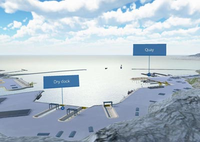 Application interactive 3D solutions portuaire